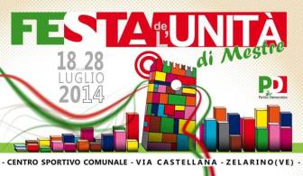 2014: la locandina dell'ultima Festa dell'Unità cittadina.