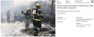 Foto incendio Cina
