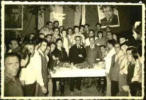 Festa de l'Unità a Venezia nel giugno del 1953, presente il Sindaco Gianquinto. (da www.ierinadabala.org)