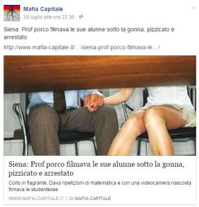 La pagina Facebook di mafia-capitale: un esempio di serio giornalismo?