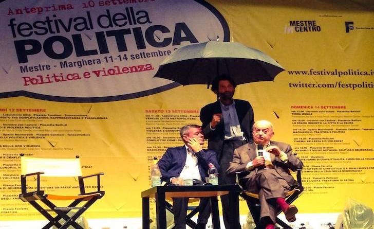 Massimo Cacciari, Ezio Mauro, Emanuele Macaluso - Festival della Politica 2015