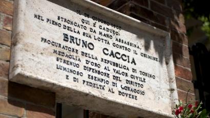 Bruno Caccia lapide